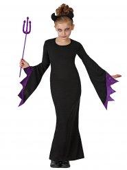 Disfarce bruxa diabólica menina Halloween