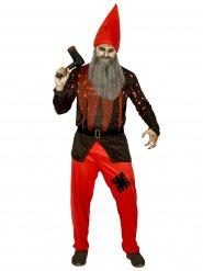Disfarce Anão de jardim terrível homem Halloween
