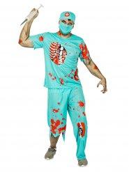 Disfarce cirurgião zombie homem Halloween