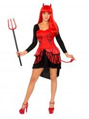 Disfarce de diabinha mulher Halloween