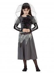 Disfarce fantasma de noiva menina Halloween