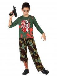 Disfarce soldado zombie criança Halloween