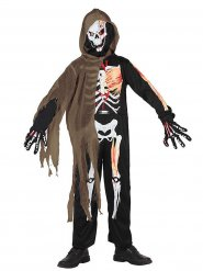 Disfarce esqueleto assustador criança Halloween