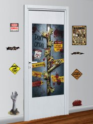 Conjunto de 9 decorações murais zombie Halloween