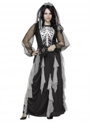 Disfarce de noiva esqueleto mulher Halloween