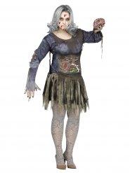 Disfarce zombie mulher tamanho grande Halloween