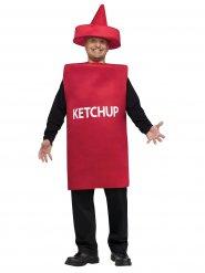 Disfarce frasco de ketchup adulto