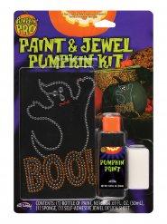 Kit de decoração pintura e brilhantes falsos para abóbora