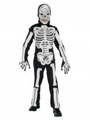 Disfarce de esqueleto terrível criança Halloween