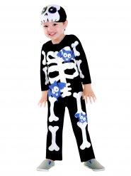 Disfarce esqueleto morcego lilás criança Halloween
