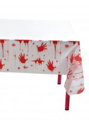 Toalha pegadas sangrentas Halloween