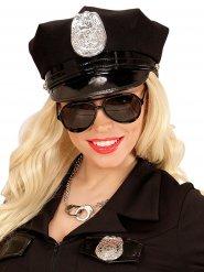 Óculos pretos aviador ou polícia adulto