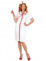 Disfarce enfermeira mulher sexy branca e vermelha