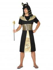 Disfarce faraó egípcio homem preto e dourado