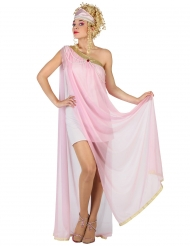 Disfarce romana cor-de-rosa mulher