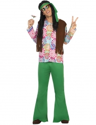 Disfarce hippie homem verde
