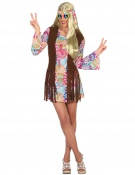 Disfarce hippie colorido mulher