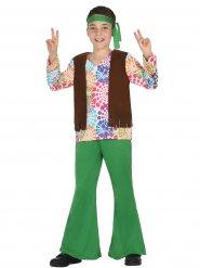 Disfarce hippie verde menino
