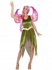 Disfarce elfo verde para mulher