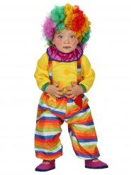 Disfarce palhaço do circo bebé