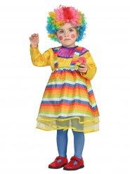 Disfarce palhaço colorido bebé