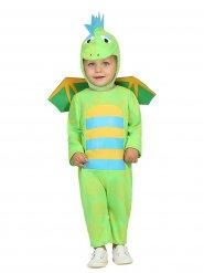 Disfarce dinossauro verde bebé
