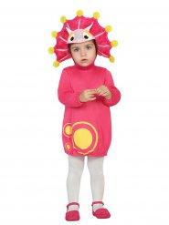 Disfarce dinossauro cor-de-rosa menina