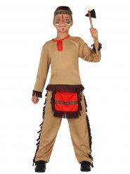 Disfarce índio do Oeste menino