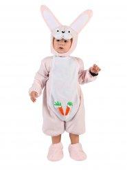 Disfarce coelho cor-de-rosa bebé