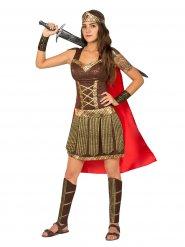 Disfarce gladiadora antiga mulher