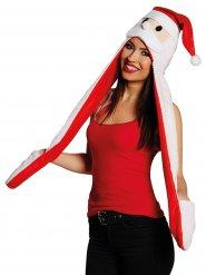 Gorro Pai Natal com cachecol e luvas adulto