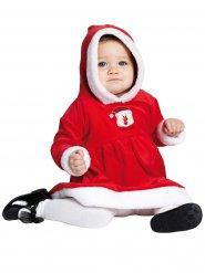 Disfarce pequena miss Natal para bebé