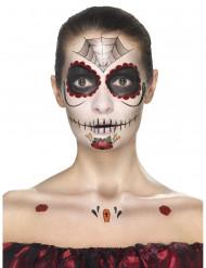 Kit de maquilhagem princesa aranha mulher Dia de los muertos
