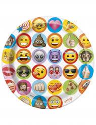 8 Pratos de cartão Emoji™ 23 cm