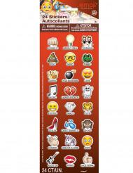 24 Adesivos Emoji™ com nomes