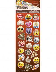 24 Adesivos Emoji™