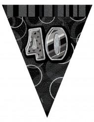 Grinalda bandeirolas cinzentas 40 anos