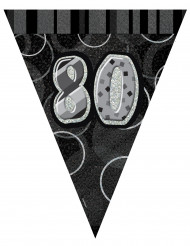 Grinalda bandeirolas 80 anos cinzenta