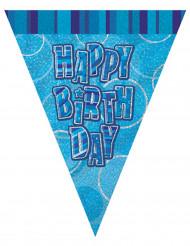 Grinalda de bandeirolas Happy Birthday