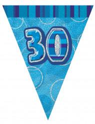 Grinalda bandeirolas azul 30 anos