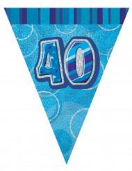 Grinalda bandeirolas azuis 40 anos