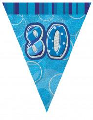 Grinalda bandeirolas azul 80 anos