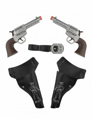 2 pistolas com capas estilo faroeste - crianças