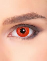 lentes fantasia estrela vermelha adulto