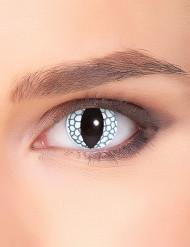 Lentes fantasia olho de dragão branco adulto