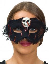 Mascarilha de tecido caveira mulher Halloween