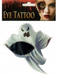 Tatuagem de fantasma para olho Halloween