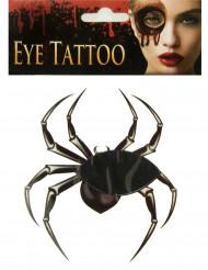Tatuagem de aranha para olho Halloween adulto