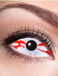 Lentes fantasia olho sangrento adulto Halloween