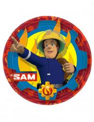 8 Pratos de cartão Bombeiro Sam™